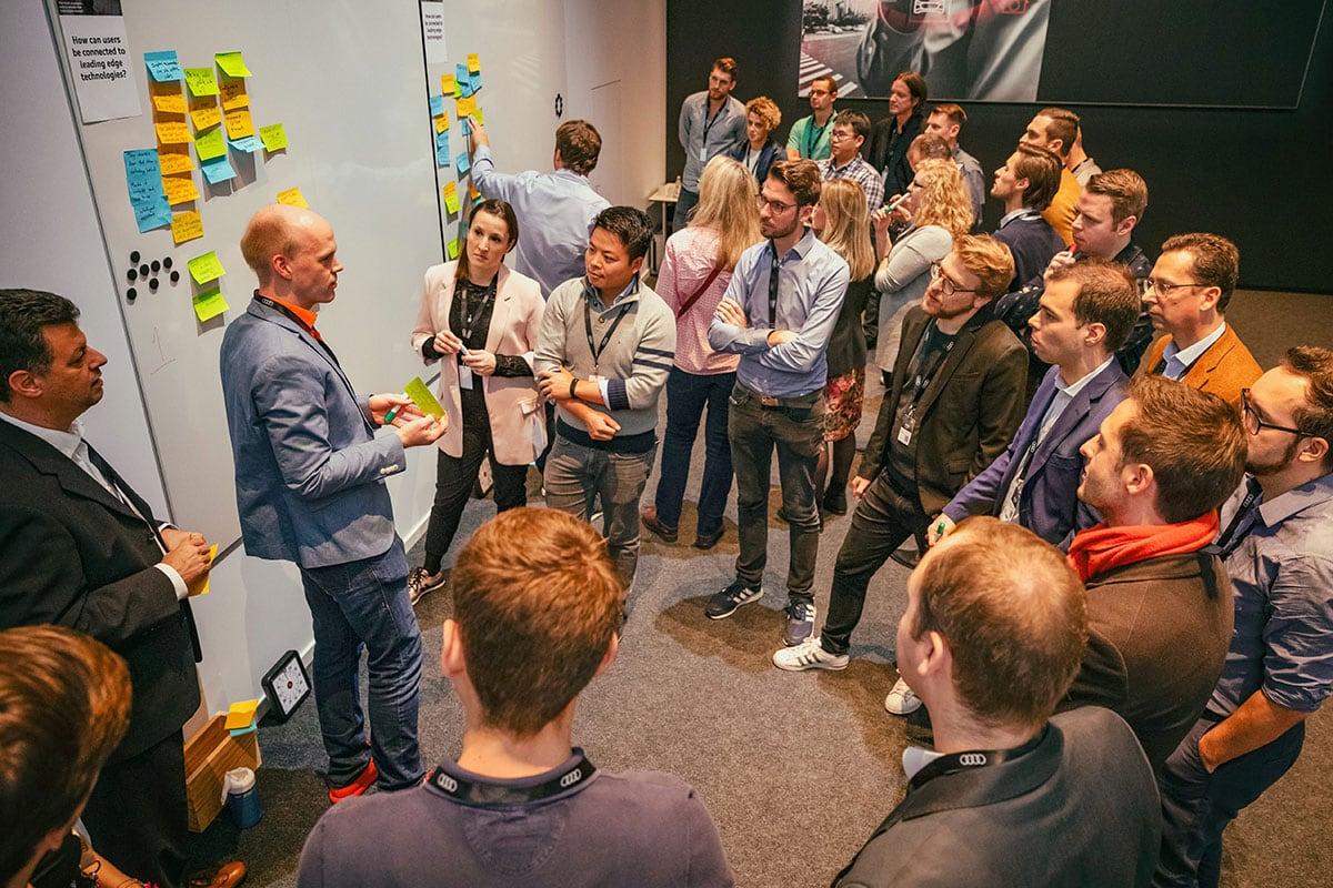 erminas Hilmar Bunjes at the Ethics Workshop Autonomous Driving Audi MQ!